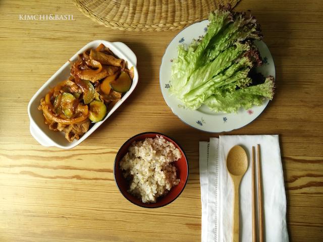 Stir fried pork with spicy sauce and vegetablesKorean food