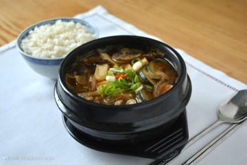 dwenjang jjigae and rice