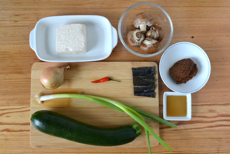 dwenjang jjigae ingredients