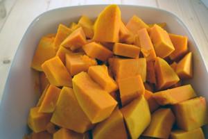 pumpkin in cubes