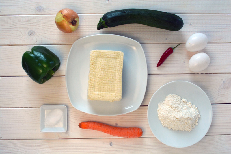 dubu jeon ingredients tofu pancake