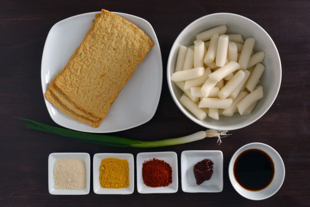 tteokbokki ingredientis