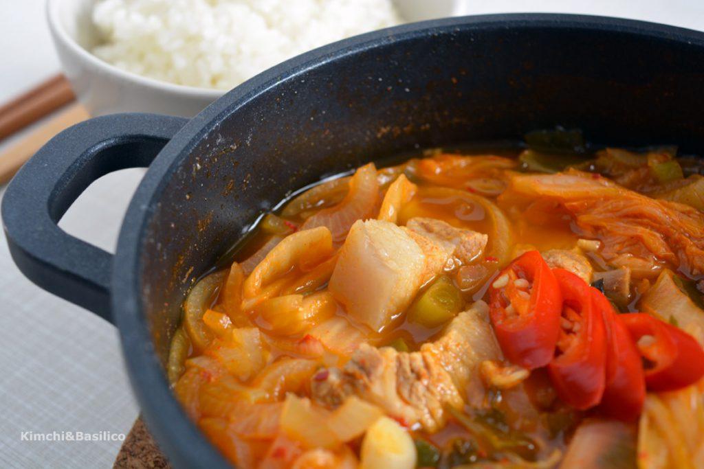 kimchi stew closeup