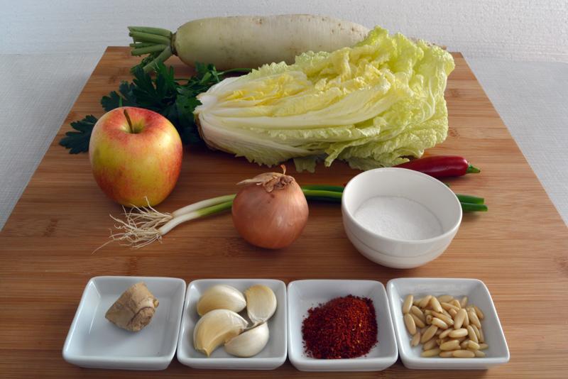 ingredients mul kimchi