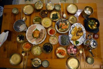 marinated crab plus banchan