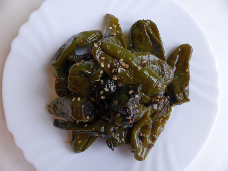 green peppers banchan