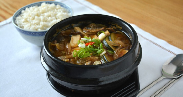 dwenjang jjigae and rice