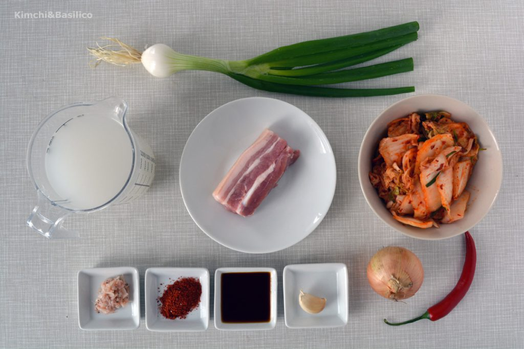 kimchijjigae ingredienti