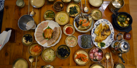 marinated crab plus banchan